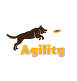 Dog agility logotype Dog silhouette isolated on vector image