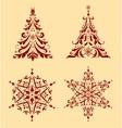 Set of Christmas ornaments vector image