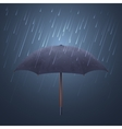 Blue umbrella and fall rain Cool water storm vector image