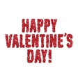 Valentine day greeting message made of hearts vector image vector image