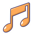 music note icon cartoon style vector image vector image