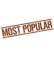 Most popular stamp vector image
