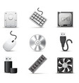 computer parts bw series vector image