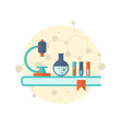 flat icon of objects chemical laboratory - vector image vector image