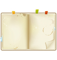 open old recipe book vector image