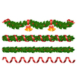 Christmas holly garland vector