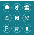 Internet of things design vector image