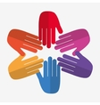 Teamwork and hand design vector image