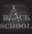 Back To School typographical background on vector image