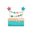 big cake happy birthday vector image