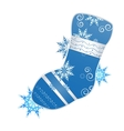 christmas stocking vector image