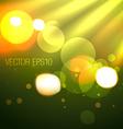creative background of bokeh lights vector image