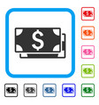 dollar banknotes framed icon vector image