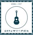 guitar icon vector image