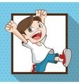 Happy cartoon boy colorful design vector image