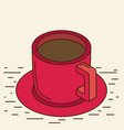isometric cup eps 10 vector image