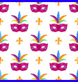 mardi gras festival mask wrapping paper vector image