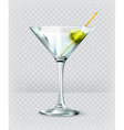 Martini cocktail icon vector image