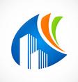 modern building abstract logo vector image