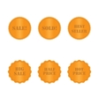set golden labels and stickers vector image