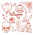 Set of icons for Halloween vector image