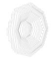 sound system speaker woofer made with lines vector image