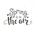 Spring is in the air Hand drawn typography poster vector image