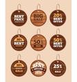Wooden sale discount vintage badges vector image