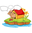 A pet in an island with empty callouts vector image vector image
