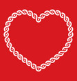 Celtic knot pattern red heart shape - love concept vector image