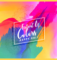 beautiful happy holi colorful background vector image