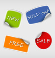 Set of colored stickers with bent corner vector image vector image