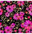 Valentine seamless dark floral pattern vector image vector image