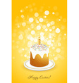 Easter Background with Decorated Cake vector image