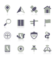 Gps navigation and road icons vector image vector image