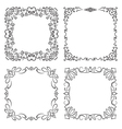 4 square frames in vintage style vector image