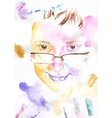 Watercolor portrait vector image