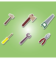 color icons with building tools vector image