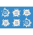 Milk labels set vector image