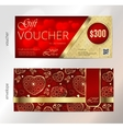 Valentines day gift voucher or coupon with vector image