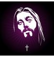 Jesus face portrait vector image vector image