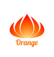 abstract orange flower logo design vector image