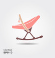 baby rocking chair for newborns vector image