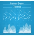 Business graph statistics vector image