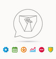diaper with pin icon child underwear sign vector image