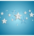 Grey stars on blue background vector image