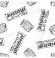 Seamless Pattern Keyboard instruments vector image