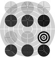 stencils of targets first variant vector image