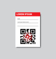 template sticker with copy space and qr code for vector image