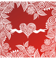 Valentines day card heart vector image